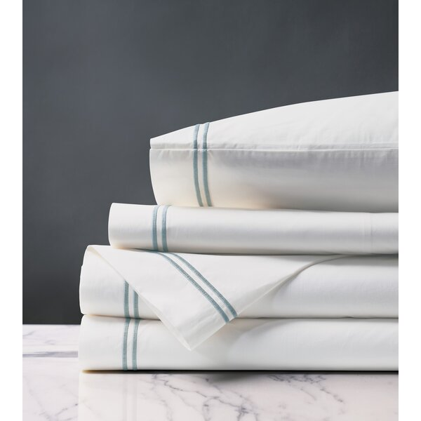 Santorini Splash 200 Thread Count 100% Egyptian-Quality Cotton Sheet Set by Eastern Accents